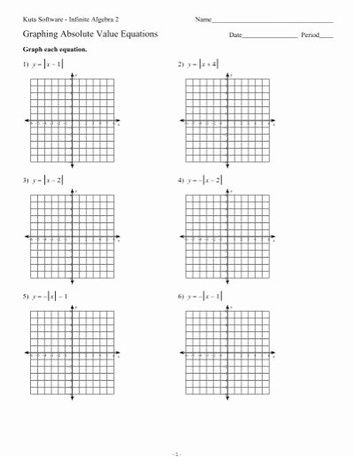 Graphing Absolute Value Equations Worksheet Lovely Graphing Absolute Value Equations Ks Ia2 Kuta software