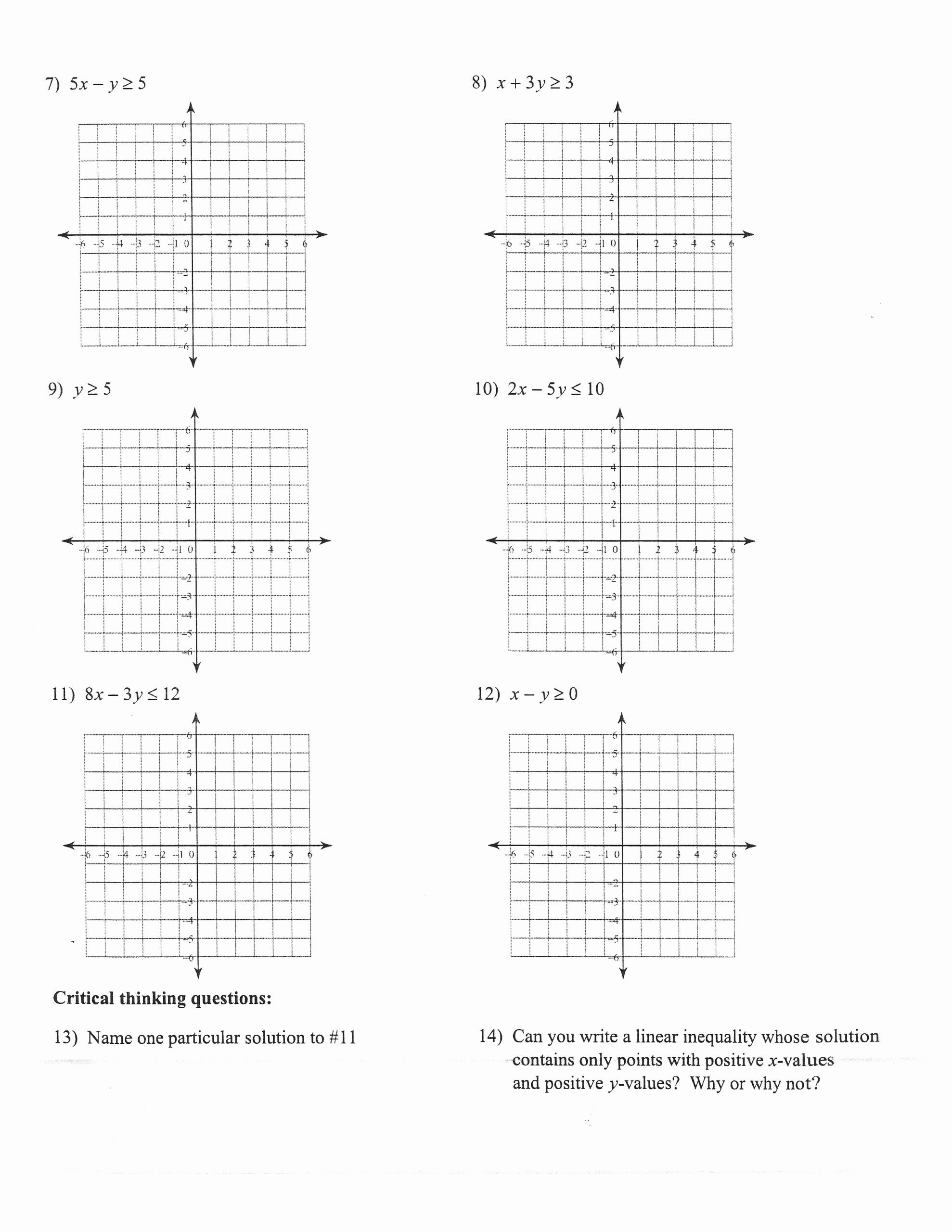 Graphing Linear Inequalities Worksheet Answers Free 32 Graphing Linear Inequalities Worksheet Answers