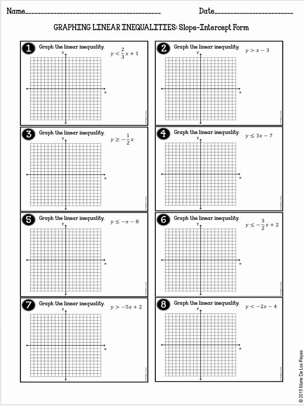 Graphing Linear Inequalities Worksheet Answers New Graphing Linear Inequalities Practice