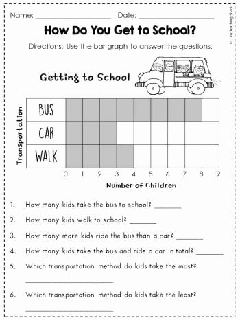 Graphing Worksheets for First Grade Free Graphing and Data for First Grade In 2020