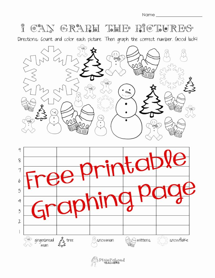 Graphing Worksheets for First Grade Inspirational Free Christmas Winter Graphing Worksheet Kindergarten First