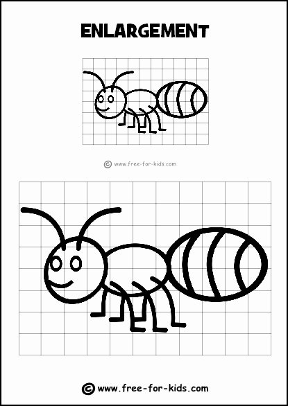 Grid Drawing Worksheets Middle School Ideas Drawing Grid Enlargement Worksheet for Kids