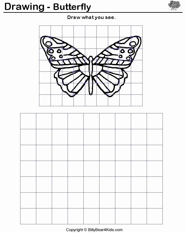 Grid Drawing Worksheets Middle School Lovely How to Enlarge A Drawing Using A Grid Google Search