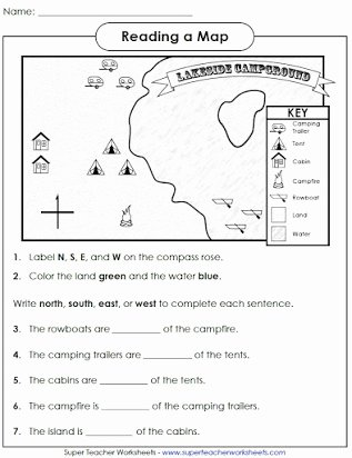 Grid Map Worksheets Grade 2 Lovely Free Printable Map Skills Worksheets