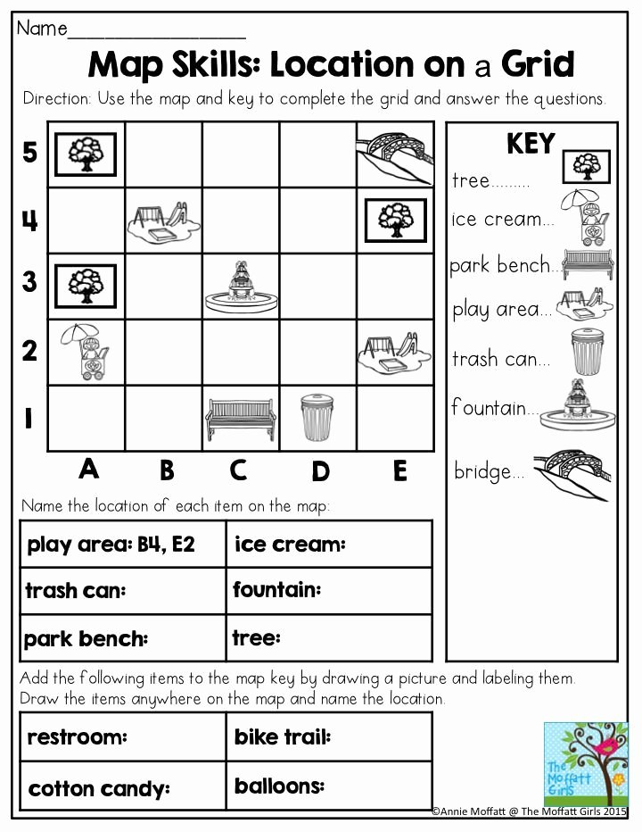 Grid Map Worksheets Grade 2 Printable 25 Best Ideas About Map Skills On Teaching