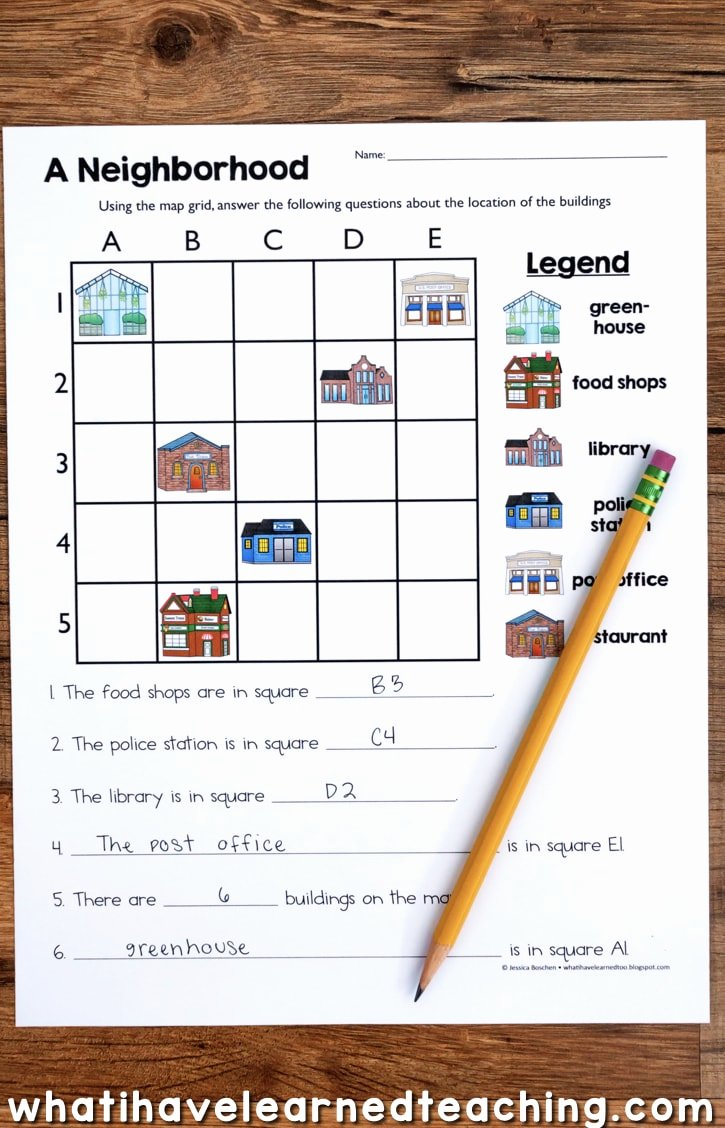 Grid Map Worksheets Grade 2 top Map Skills & Location social Stu S Unit