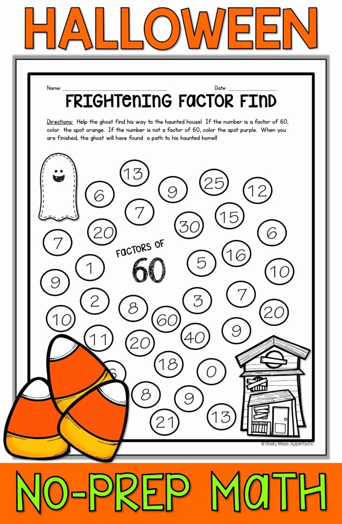 Halloween Math Worksheets Middle School Fresh Halloween Math Worksheets Free Middle School Money Lessons