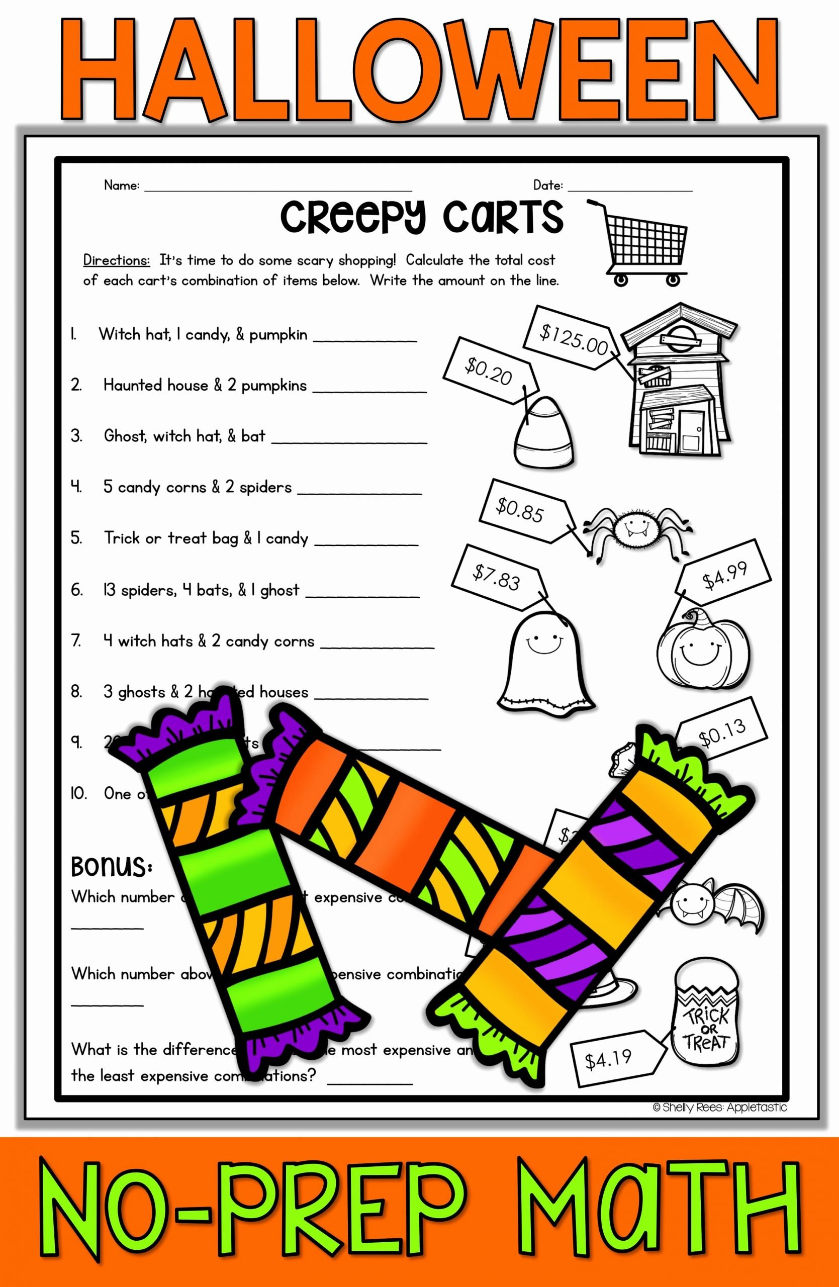 Halloween Math Worksheets Middle School Ideas Halloween Math Worksheets