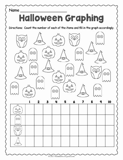Halloween Worksheets for 2nd Grade Lovely Free Printable Halloween Graphing Worksheet Worksheets 2nd