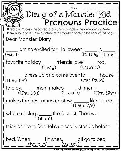 Halloween Worksheets for 2nd Grade Lovely October First Grade Worksheets Planning Playtime