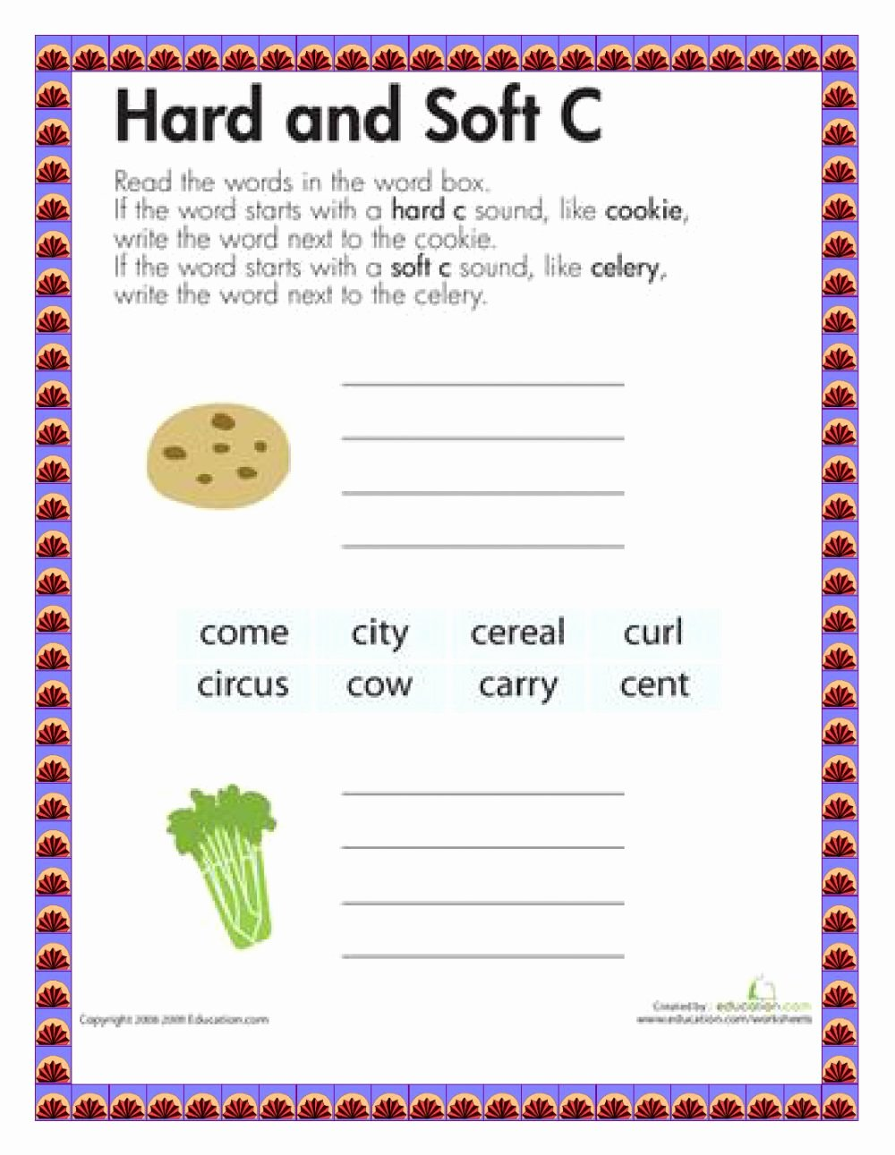 Hard and soft C Worksheets Printable Hard and soft C Interactive Worksheet