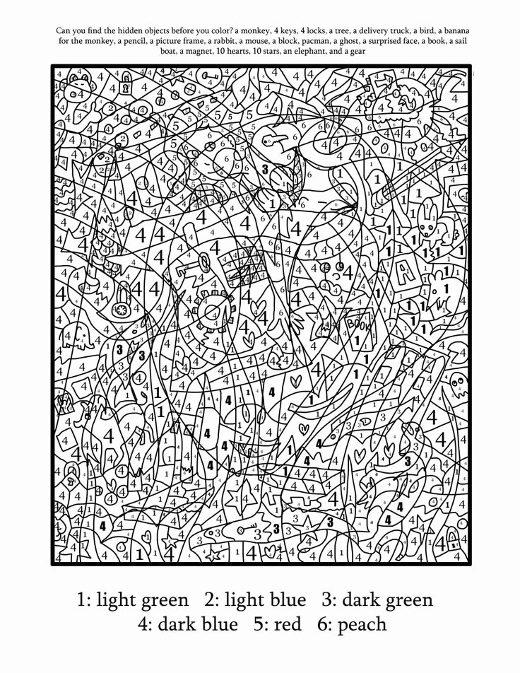 Hard Color by Number Worksheets Inspirational Coloring Pages Free Printable Paint by Numbers fors