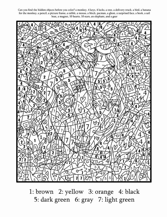 Hard Color by Number Worksheets New Pin On Hard Coloring Pages for Kids