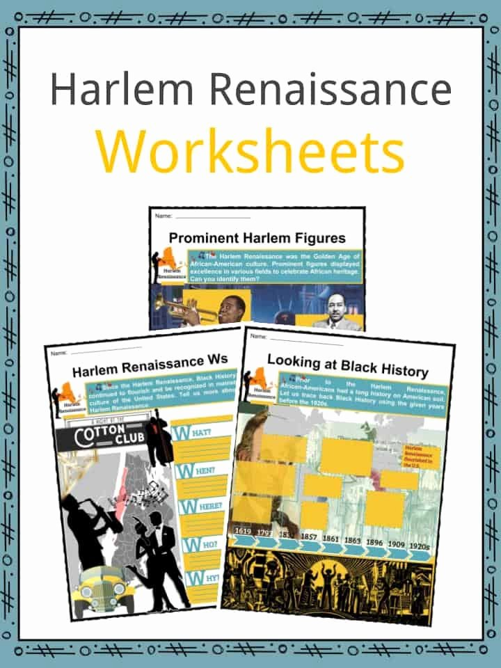 Harlem Renaissance Reading Comprehension Worksheets Best Of Harlem Renaissance Facts Worksheets Movement Music