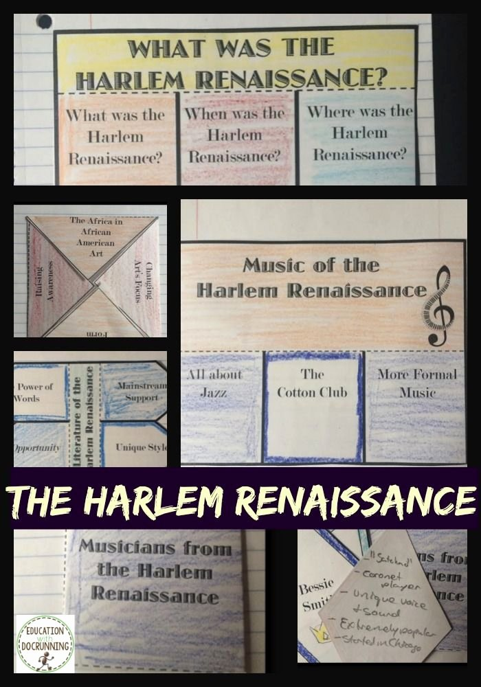 Harlem Renaissance Reading Comprehension Worksheets Best Of Harlem Renaissance Interactive Notebook Graphic organizers