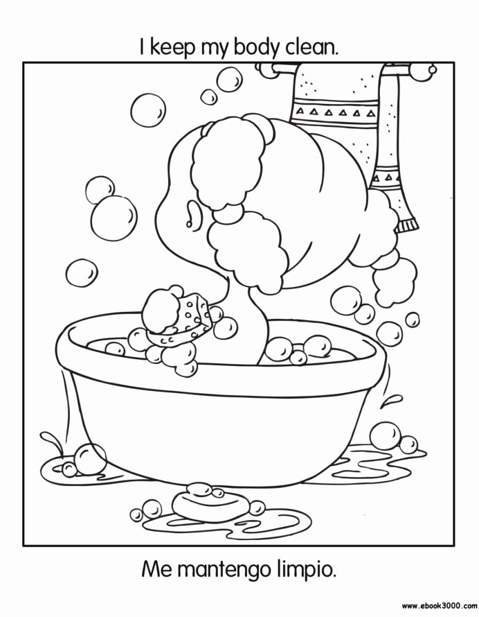 Healthy Habits for Kids Worksheets Fresh Free Printable Coloring to Teach Kids About Hygiene Germs