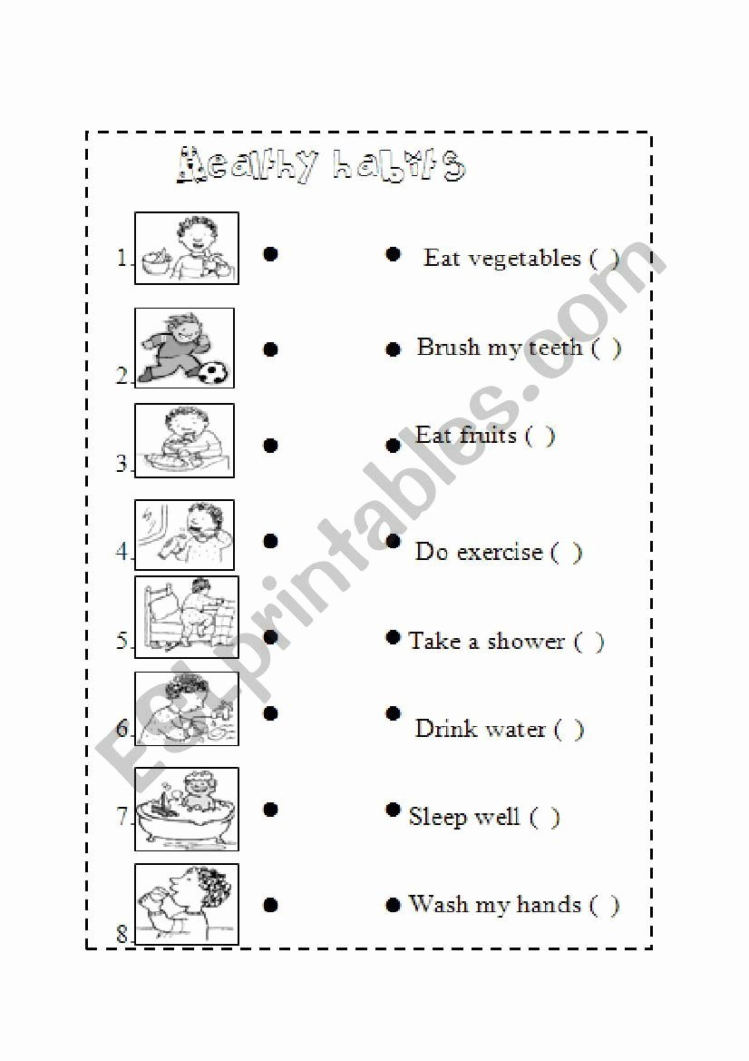 Healthy Habits for Kids Worksheets Lovely  §¹£º§'¹·•¨• ƒ¢'ª¹¬