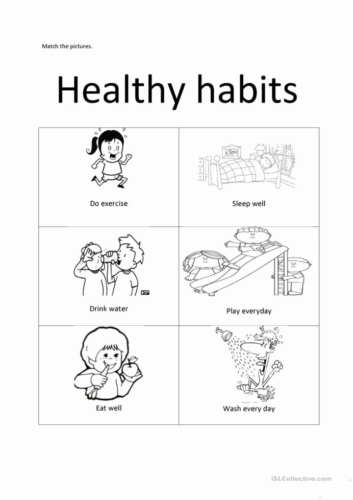 Healthy Habits for Kids Worksheets New Healthy Habits English Esl Worksheets for Distance Learning
