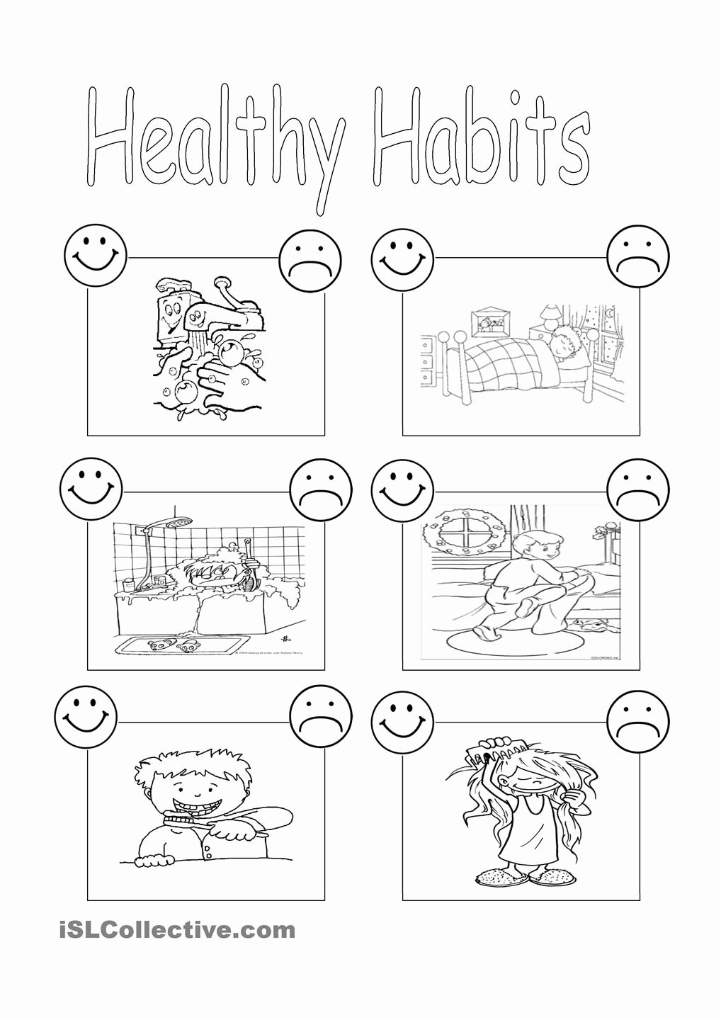 Healthy Habits for Kids Worksheets New Healthy Habits