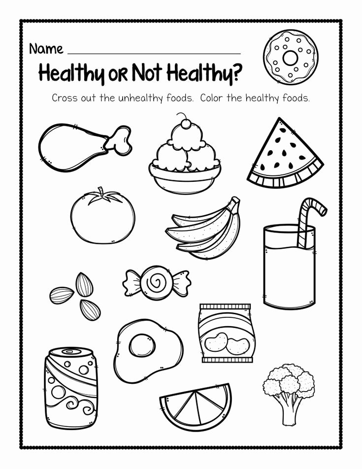 Healthy Habits for Kids Worksheets New Kindergarten Worksheets My Blog