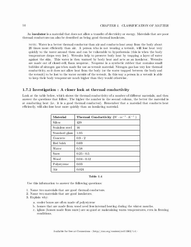 Heating and Cooling Curves Worksheet Best Of Classification Matter Worksheet Answers Chemistry Grade