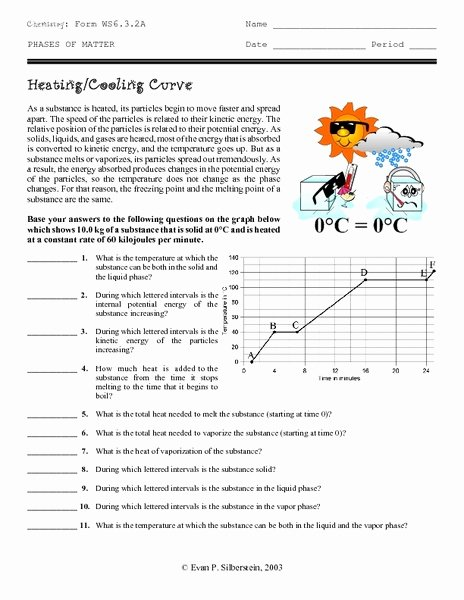 Heating and Cooling Curves Worksheet New Heating Cooling Curve Worksheet for 9th 12th Grade