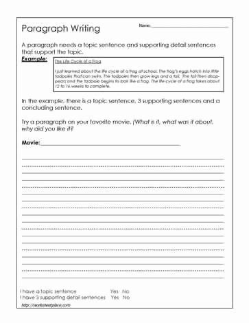 High School Essay Writing Worksheets Best Of Paragraph Writing Worksheet Worksheets