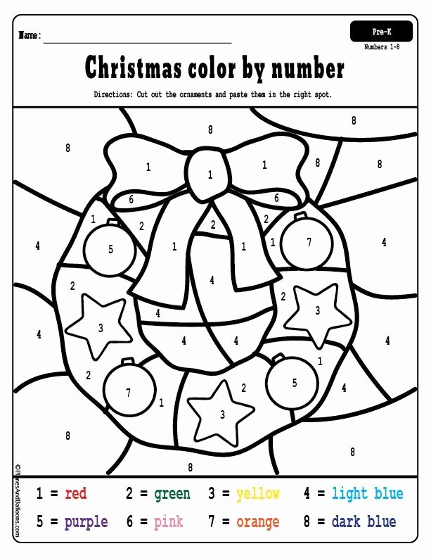 Holiday Color by Number Worksheets Ideas Free Printable Christmas Worksheets for Preschoolers Holiday