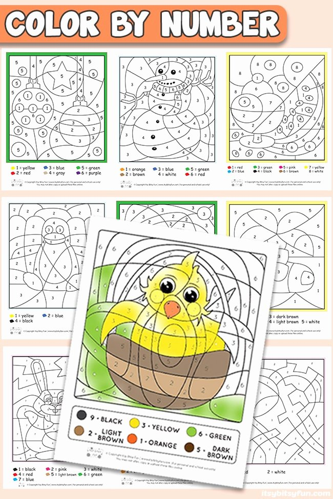 Holiday Color by Number Worksheets Printable Free Printable Color by Number Worksheets Itsybitsyfun