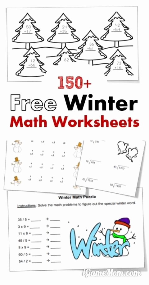 Holiday Math Worksheets Middle School Ideas 150 Free Winter Math Printable Worksheets