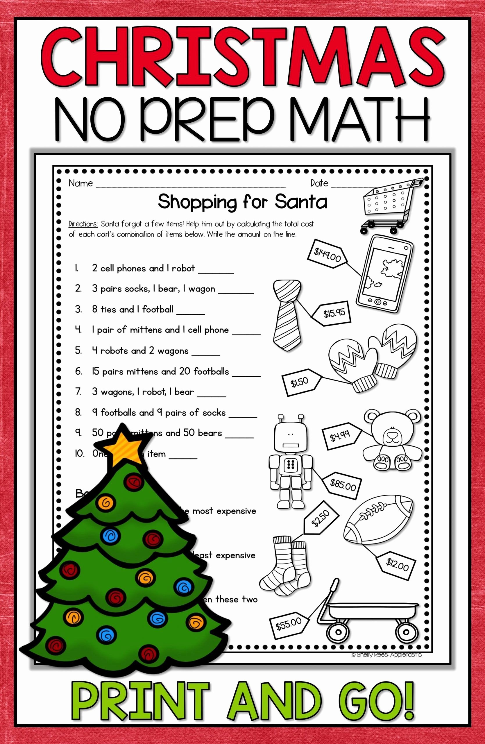 Holiday Math Worksheets Middle School New Christmas Math Worksheets Middle School Christmas Math