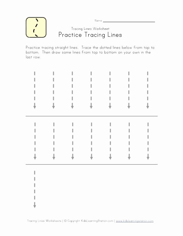 Horizontal and Vertical Lines Worksheet Inspirational Trace Lines Down Worksheet