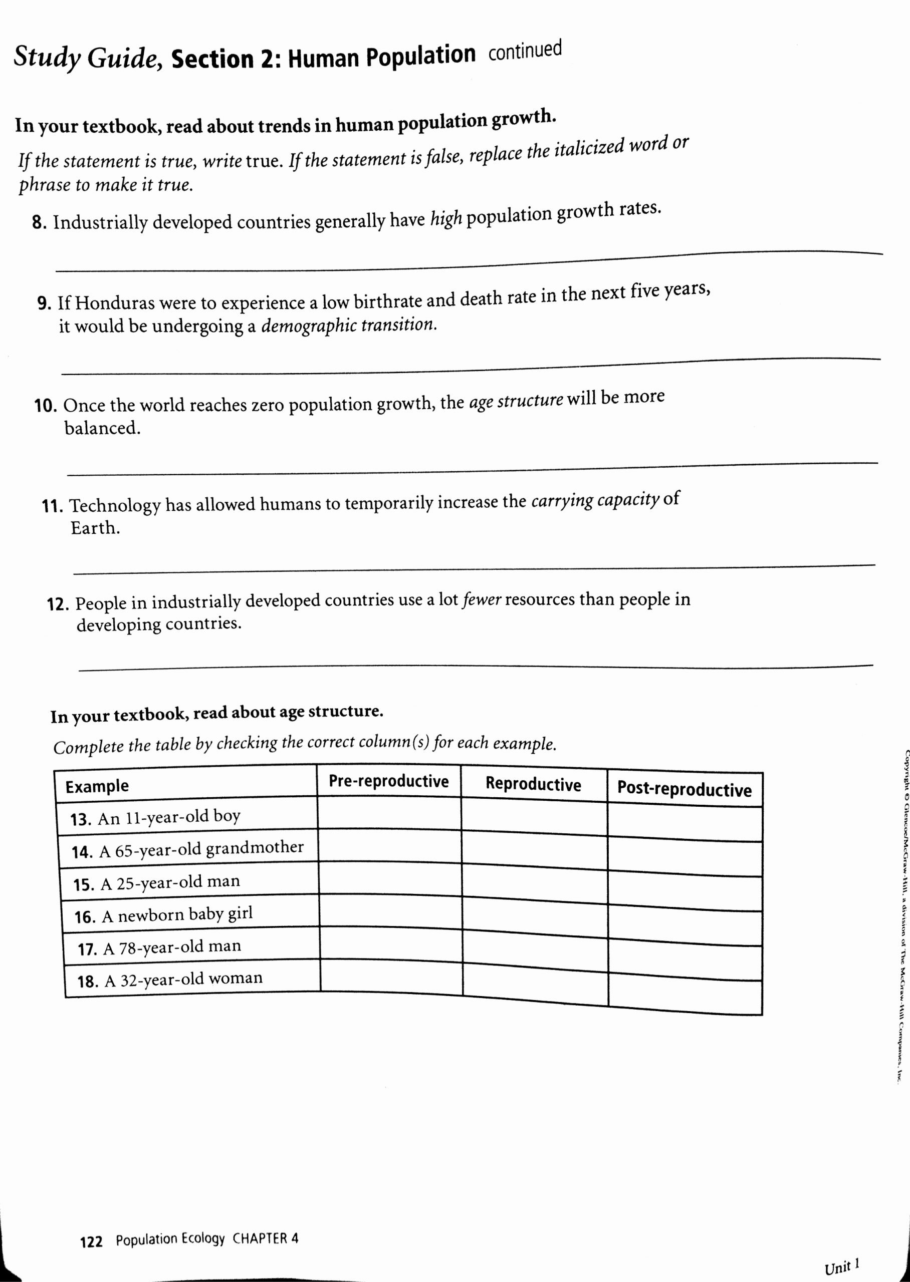 Human Population Growth Worksheet Answer Ideas Biology Population Growth Worksheet