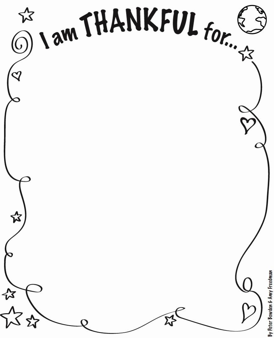 I Am Thankful for Worksheet Kids I Am Thankful for Worksheet No Chalices Version Pdf
