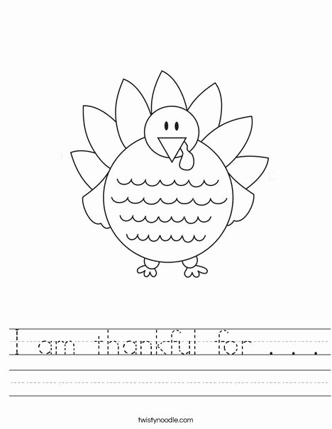 I Am Thankful for Worksheet New I Am Thankful for Worksheet