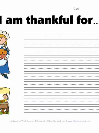 I Am Thankful for Worksheet New What are You Thankful for Worksheet