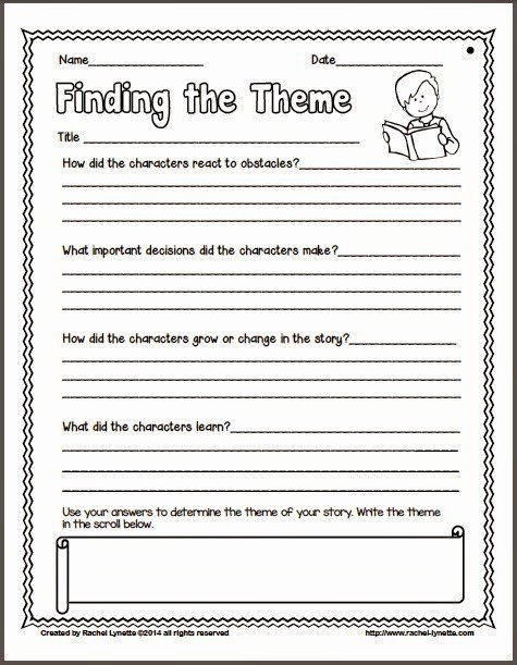 Identifying theme In Literature Worksheets Inspirational Identifying theme In Literature Worksheets Ideas for