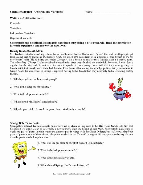 Identifying Variables Worksheet Middle School Best Of Independent and Dependent Variable Worksheet