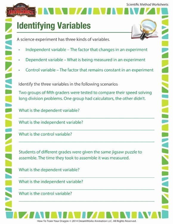 Identifying Variables Worksheet Middle School New Identifying Variables Learn How to Identify Variables In