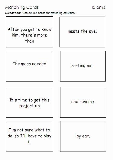 Idiom Worksheets for 2nd Grade top Idioms – Word Lists Worksheets Activities and More