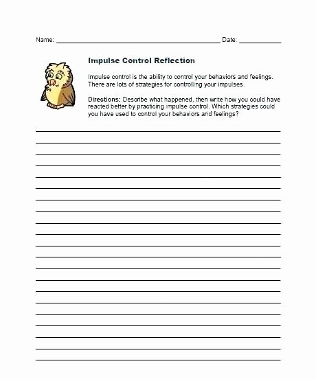 Impulse Control Worksheets for Kids Best Of Impulse Control Worksheets Printable Impulse Control