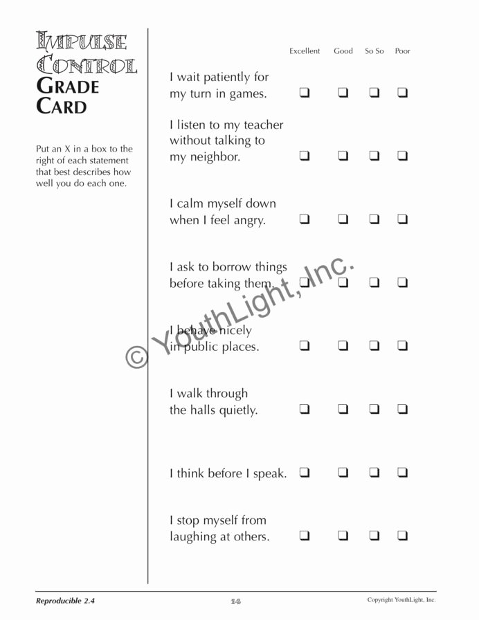 Impulse Control Worksheets for Kids Best Of Impulse Control Worksheets Worksheets Fun Educational Games