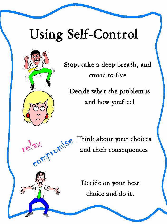 Impulse Control Worksheets for Kids Kids Decisive Free Printable Self Control Worksheets