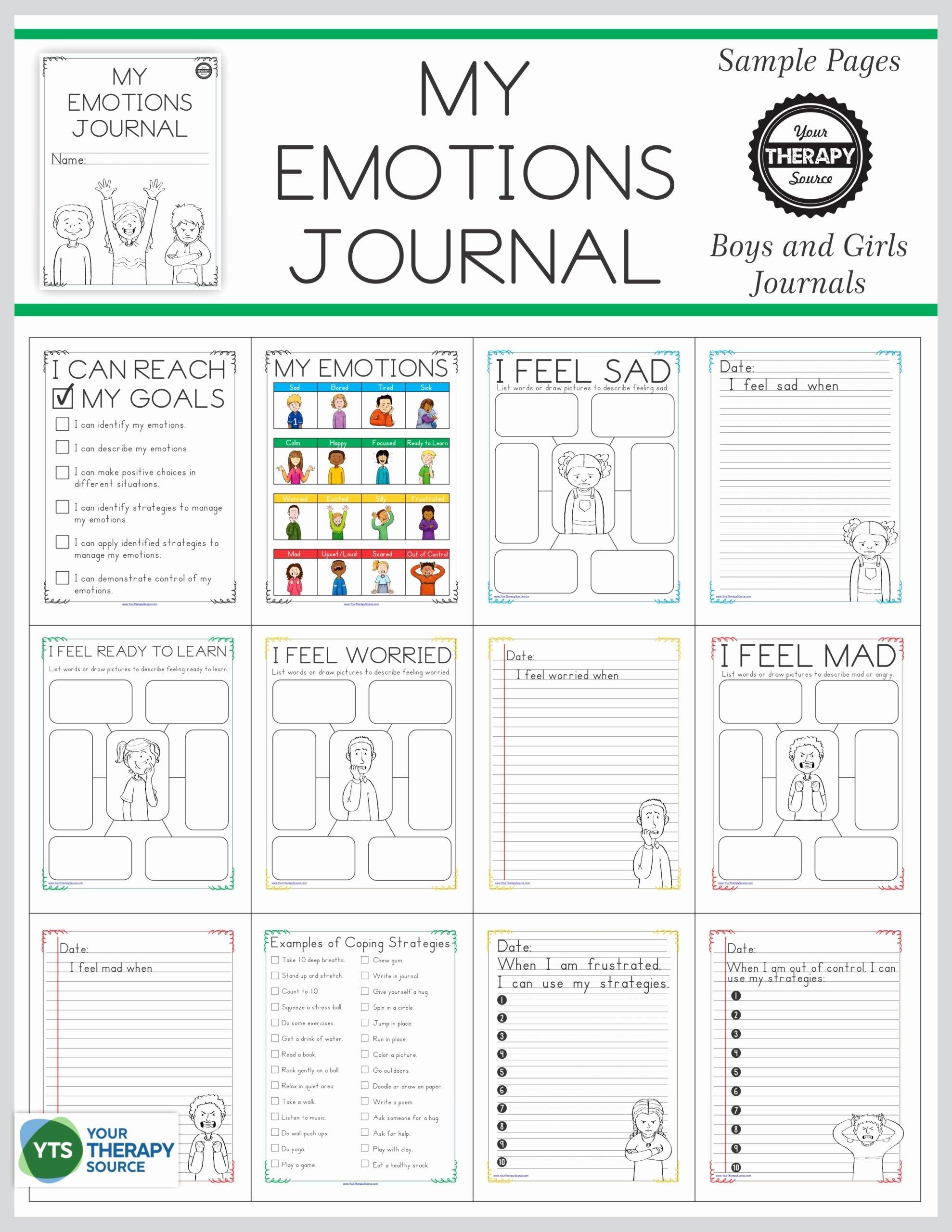 Impulse Control Worksheets for Teens Kids Emotional Regulation Worksheets for Boys and Girls