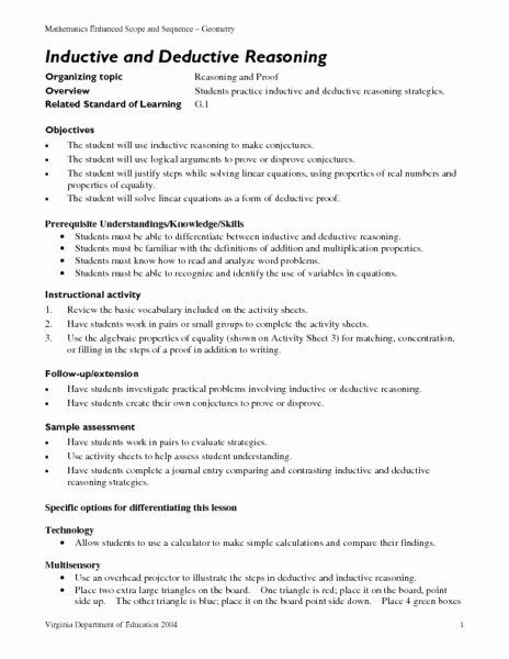 Inductive and Deductive Reasoning Worksheet Printable Help Essays topic to Choose for Political thesis Inductive