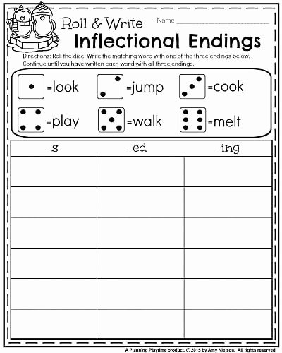 Inflected Endings Worksheets 2nd Grade Fresh 1st Grade Worksheets for January
