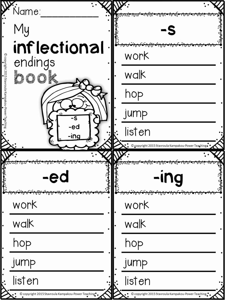 Inflected Endings Worksheets 2nd Grade Fresh Inflectional Endings