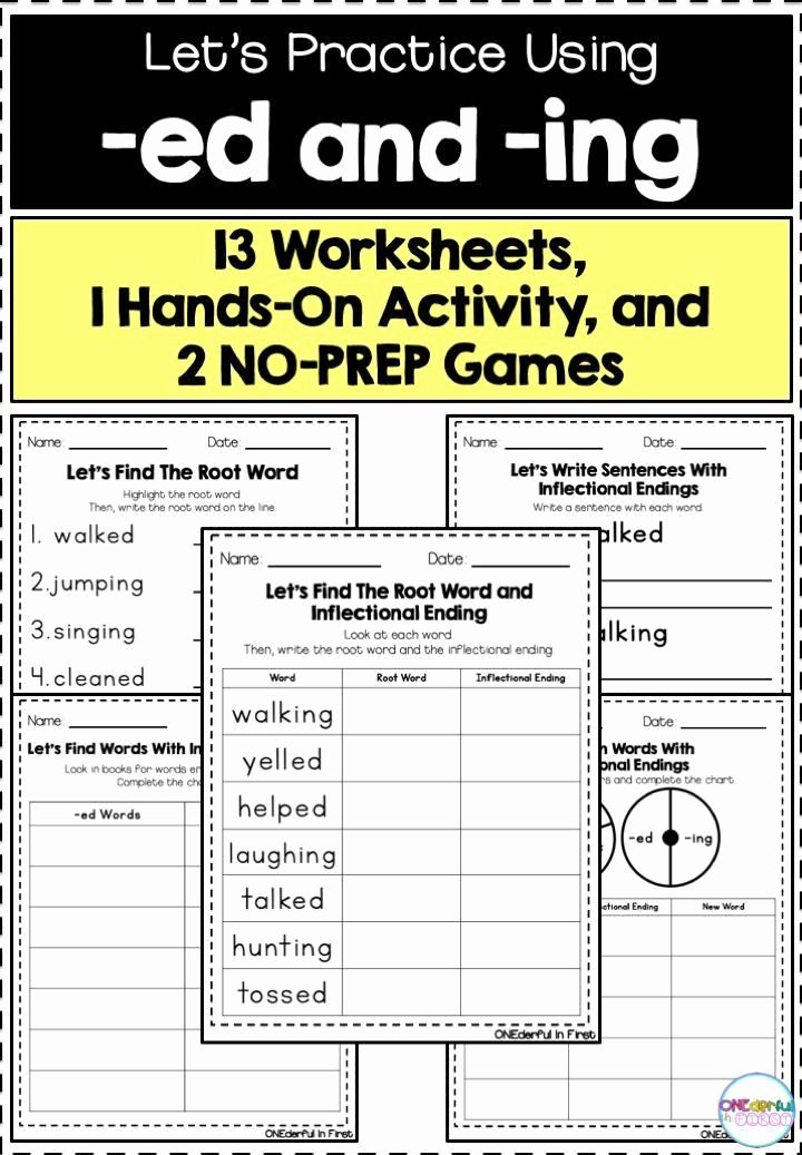 Inflectional Endings Worksheets 2nd Grade Fresh Inflectional Endings Worksheets 2nd Grade Inflectional