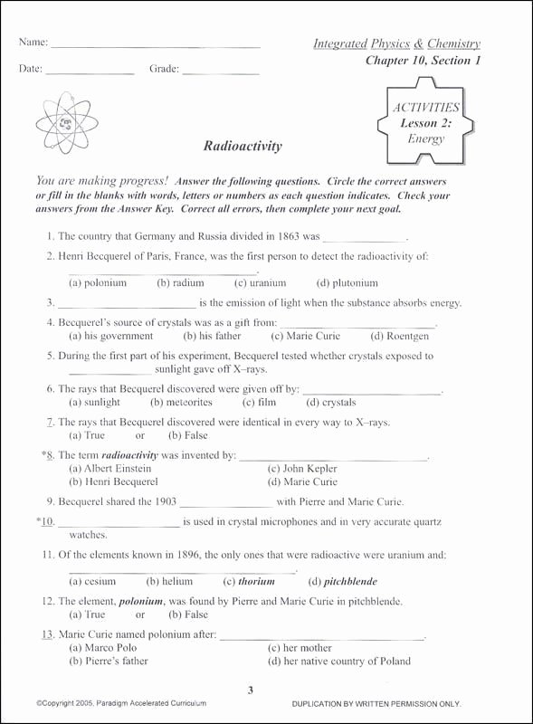 Integrated Physics and Chemistry Worksheets Lovely Integrated Chemistry and Physics Worksheets Integrated