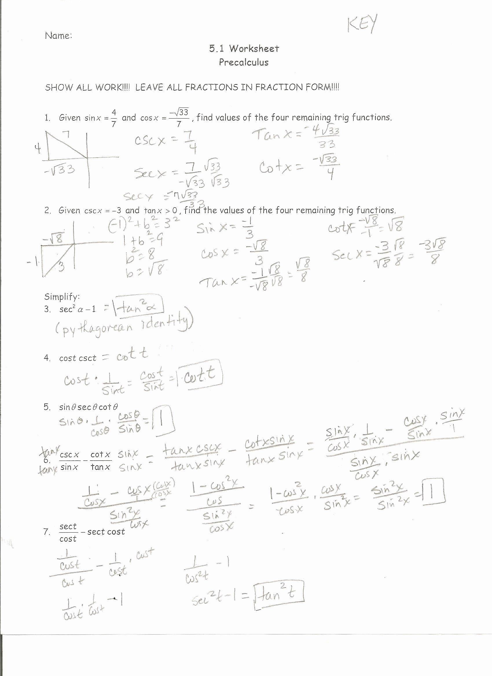 Interval Notation Worksheet with Answers Fresh Math Precalculus Laba Worksheet 5 1 Key
